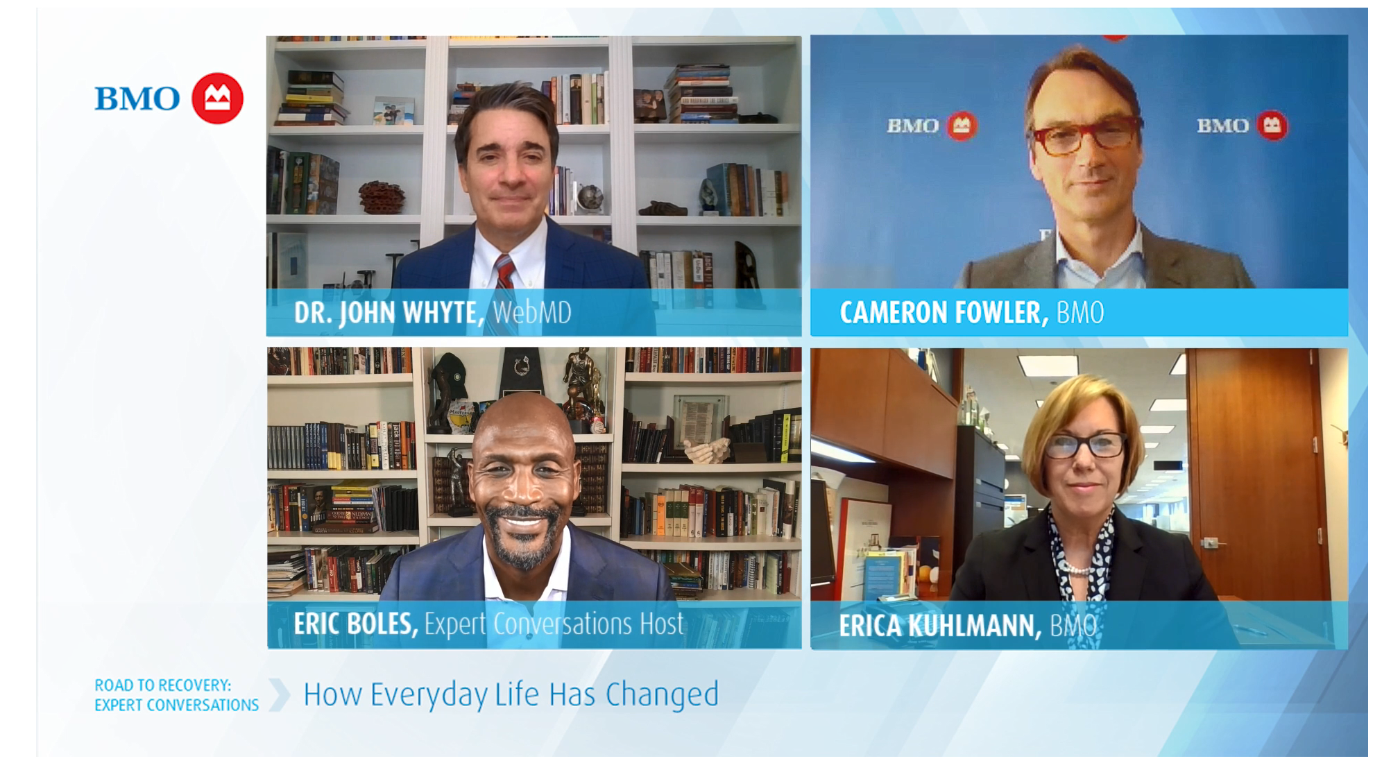 How Everyday Life Has Changed: Dr. John Whyte, Cameron Fowler, Erica Kuhlmann, Eric Boles